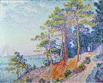 St. Tropez, the Custom's Path, 1905 Poster Art Print by Theo van Rysselberghe