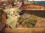 In a Rose Garden, 1889 Fine Art Print by Sir Lawrence Alma-Tadema