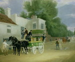 Kidd's Omnibus to Turnham Green at the Angel Inn Poster Art Print by Thomas Bowles