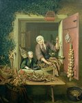 Boy buying chestnuts Fine Art Print by Anton Muller