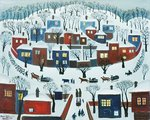 Winter Village, 1969 Fine Art Print by Maggie Rowe