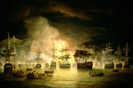 Bombardment of Algiers, August 1816, 1820 Fine Art Print by English School