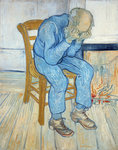 Old Man in Sorrow Postcards, Greetings Cards, Art Prints, Canvas, Framed Pictures, T-shirts & Wall Art by Paul Cezanne