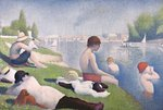 Bathers at Asnieres, 1884 Fine Art Print by Paul Signac