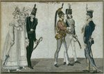English costumes, illustration from 'Le Bon Genre', early 19th century Wall Art & Canvas Prints by James Gillray