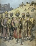 Negus of Abyssinia, Menelik II Fine Art Print by French School