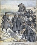 Battery, defence of Port Arthur, illustration from 'le Petit Journal: Supplement Illustre', 27th March 1904 Fine Art Print by Nikolai Egorevich Sverchkov