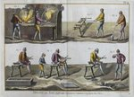 Glassblowing, illustration from the 'Encyclopedie des Sciences et Metiers' by Denis Diderot Fine Art Print by P.J. Crook