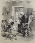 The school teacher Fine Art Print by Sir John Everett Millais