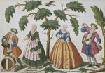 Peasants and bourgeois dealing with wine Fine Art Print by L.F. Labrousse