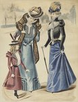 Fashion plate, on the boulevard, illustration from 'La Nouvelle Mode', 1897 Fine Art Print by French School