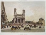 Church of St. Vincent de Paul, Paris, illustration from 'Paris dans sa splendeur', published by Henri Charpentier, engraved by Charles Claude Bachelier Poster Art Print by French School