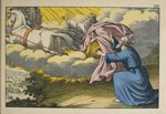 Elijah ascends to Heaven in a whirlwind leaving his disciple Elisha to carry on his work, illustration from 'L'Ancien Testament', published by Jakob Ferdinand Schreiber, Esslingen Fine Art Print by German School