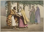 Jacob with Laban and his daughters, illustration from a catechism 'L'Histoire Sainte', published by Charles Delagrave, Paris, late 19th century Fine Art Print by German School