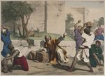 The stoning of St. Stephen, illustration from a catechism 'L'Histoire Sainte', published by Charles Delagrave, Paris, late 19th century Postcards, Greetings Cards, Art Prints, Canvas, Framed Pictures, T-shirts & Wall Art by .