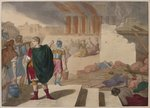 The taking of Jerusalem by Titus, illustration from a catechism 'L'Histoire Sainte', published by Charles Delagrave, Paris, late 19th century Fine Art Print by Francois de Nome
