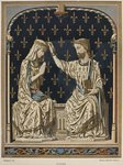 14th century coronation of the Virgin, ivory from the Louvre, illustration from the 'Dictionnaire de l'ameublement et de la decoration' by Henry Havard, volume 3, plate 1, Paris, Maison Quantin, 1878 Wall Art & Canvas Prints by Ethiopian School