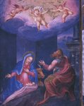 Nativity, from a facsimile of the Breviary of King Philip II of Spain, 1569 Wall Art & Canvas Prints by Sandro Botticelli