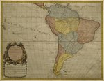 Map of South America, published in 1700, Paris Fine Art Print by Guillaume Delisle
