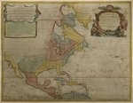 Map of Central and North America, published in 1700, Paris Fine Art Print by Guillaume Delisle