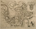 Map of Verona, from 'Les Villes de Venetie', 1704, published by Pierre Mortier in Amsterdam Poster Art Print by Georg Braun