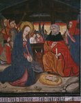 Nativity, panel from the Church San Andres of Tortura, late 15th century-early 16th century Fine Art Print by Andrew Howat