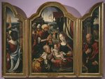 Adoration of the Magi, Epiphany Triptych, c.1540 Fine Art Print by Absolon Stumme