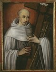St. Bernard of Clairvaux carrying the instruments of the Passion Poster Art Print by Antonio Rodriguez