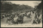 Postcard depicting the return from the races, Avenue du Bois de Boulogne, Paris, c.1900 Fine Art Print by Constantin Guys