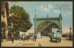 Postcard depicting the bridge on the Rhine in Strasbourg, c.1914-18 Fine Art Print by James Rattray