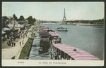 Postcard depicting the river Seine at Point-du-Jour, c.1900 Fine Art Print by Stanislas Victor Edouard Lepine