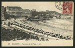 Postcard depicting the Grande Plage of Biarritz, c.1900 Fine Art Print by P.J. Crook