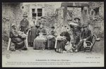 Postcard depicting the villagers meeting or 'Couvige', Le Puy-en-Velay, c.1900 Fine Art Print by Edgar Degas