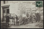 Postcard depicting the shoeing of a horse in Cornes, Le Velay, c.1900 Fine Art Print by French Photographer