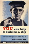 'You can help to build me a ship', WWII poster Fine Art Print by Thomas Rowlandson