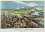 Across the Continent: 'Westward the Course of Empire takes its way', 1868, Postcards, Greetings Cards, Art Prints, Canvas, Framed Pictures, T-shirts & Wall Art by N. and Ives, J.M. Currier