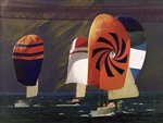 Spinnakers (oil on canvas) Fine Art Print by English School