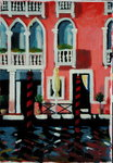 Canal Grande I (oil on card) Fine Art Print by Sara Hayward