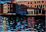 Winter Morning, Grand Canal (oil on card) Fine Art Print by Sara Hayward