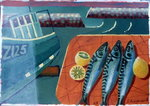 Three Mackerel Fine Art Print by Sara Hayward