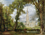 View of Salisbury Cathedral from the Bishop's Grounds, Postcards, Greetings Cards, Art Prints, Canvas, Framed Pictures, T-shirts & Wall Art by Joseph Mallord William Turner