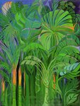 Rain Forest, Malaysia, 1990 (acrylic on canvas) Wall Art & Canvas Prints by William Ireland