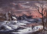 Winter Landscape Wall Art & Canvas Prints by Florence Hardy