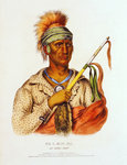 Ne-O-Mon-Ne, illustration from 'The Indian Tribes of North America', by Thomas L. McKenney and James Hall, pub. byF.W. Greenough, 1838 Wall Art & Canvas Prints by French School