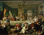 An Election Entertainment, 1755 Postcards, Greetings Cards, Art Prints, Canvas, Framed Pictures & Wall Art by William Hogarth