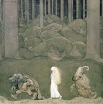 The Princess and the Trolls, 1913 Postcards, Greetings Cards, Art Prints, Canvas, Framed Pictures, T-shirts & Wall Art by Arthur Rackham