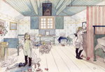 Mamma's and the Small Girl's Room, from 'A Home' series, c.1895 Fine Art Print by Carl Larsson