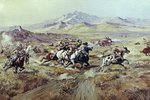 Stagecoach Attack Fine Art Print by Frederic Remington