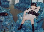Little Girl in a Blue Armchair, 1878 Postcards, Greetings Cards, Art Prints, Canvas, Framed Pictures, T-shirts & Wall Art by Claude Monet