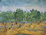 Olive Orchard, Violet Soil Fine Art Print by Paul Gauguin